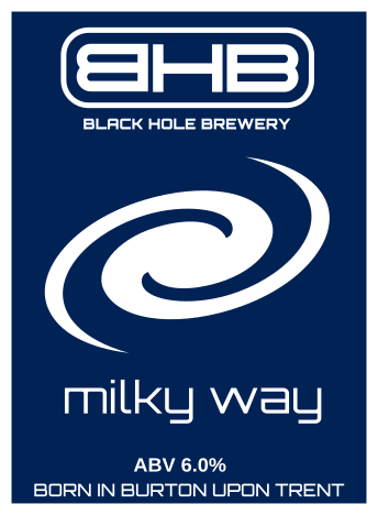milky way beer brewed by the black hole brewery