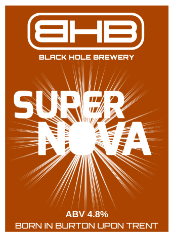 super nova beer brewed by the black hole brewery